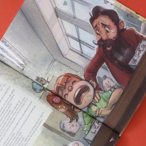Den gang hr. skæg startede i skole, Mikkel Lomborg, Bogoplelvelsen